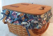 Longaberger 1995 Hostess Gourmet Picnic Basket Combo - Damaged