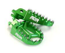 NEW MDR PRO SERIES CNC WIDE FOOT REST PEGS KAWASAKI KX 250 05 - 07 GREEN