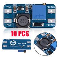 10Pcs MT3608 2A DC / DC Step Up Power Booster-Power-Modul für Arduino gelte