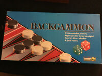 VINTAGE 1970's CHAD VALLEY BACKGAMMON 100% Complete  And In Very Good Condition