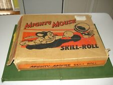 1956 MIGHTY MOUSE SKILL ROLL GAME IN BOX, TIN LITHO, GREAT GRAPHICS, TERRY TOONS