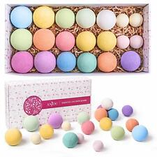 Bath Bombs Gift Set, Anjou 20 Pack Natural Essential Oils Spa Bath Fizzies for M