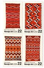 US Scott #2235-2238 Navajo Art  Block of 4 MNH ***FREE SHIP***