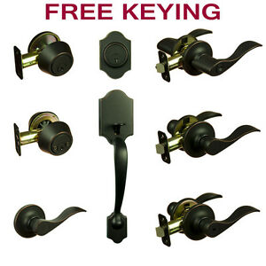 Madison Oil Rubbed Bronze Door Lever Knob Hardware Collection
