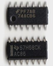 10x 74AC86 Quad 2-input Exclusive OR Gate XOR SOIC-14 SMD