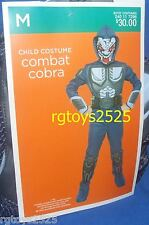 Combat COBRA Costume Size 7-8 Medium New M Med 6 7 8 Boys