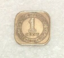 MALAYA  King George VI  1 cent coin 1945  #5