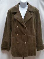 71750dfc0d9b Pre-owned Women's Nordstrom Corduroy Medium Brown Jacket Size M Medium X120