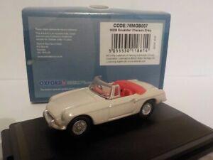 MGB Roadster - White, 1/76 Oxford Diecast 76mgb007
