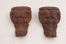 """Pair Cast Iron Bath Tub Hardware Ornate Feet 6"""" (A5L)"""