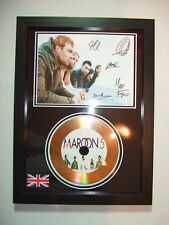 MAROON 5  SIGNED  GOLD  DISC  Y8