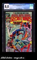 Marvel - Marvel Super Heroes Secret Wars #3 -1st Volcana (Newsstand) - CGC 8.0