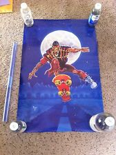 Moon Rider Poster - 1987 Prokop  - Skeleton Skateboarder - NEW old stock