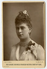 Vintage Cabinet Card Princess Mary of Teck Queen of England