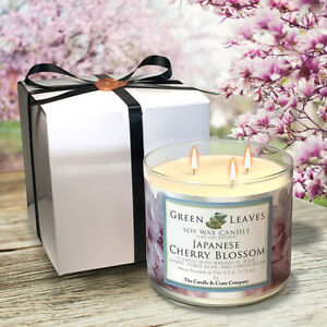 Soy Candle, Japanese Cherry Blossom, Handmade, Highly Scented, 3-Wick Candle!