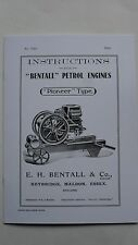 Bentall Pioneer Type Instructions for Petrol Engines