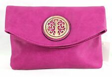 Ladies Faux Leather Cross Body Messenger Shoulder Handbag Purse Clutch L Green 1066