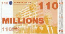 Original billet France Fantaisie 110 millions d'euros - Satirique