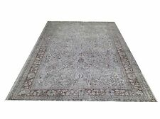 SALE 8.7 x 5.7  ft GRAY  TURKISH  oushak  Vintage Overdyed carpet rug
