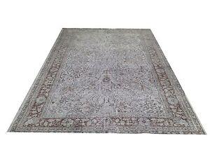 SALE 8.7 x 5.7  ft GRAY  TURKISH  oushak  Vintage Overdyed carpet rug
