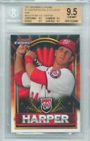 2011 Bowman Chrome RE Red Bryce Harper Rookie Graded BGS ALL 9.5 Subs