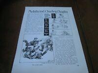 1918 Original POLITICAL CARTOON - CHARLIE CHAPLIN Drafted WWI Comic Kaiser War