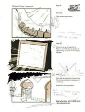 MARK SIMON Disney World 50th Anniversary Concept Art STUDIO COPY Page Signed #MS