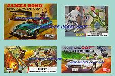 Airfix set of vintage James Bond Posters Aston Martin Gyrocopter Odd Job Leaflet