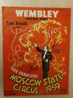 WEMBLEY EMPIRE POOL: THE FABULOUS MOSCOW STATE CIRCUS OF 1959