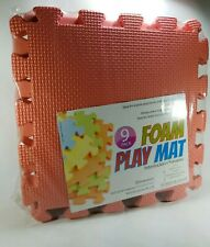 Baby Foam Play Mat 9 pcs Dark Pink Color