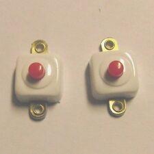 10 Taster eckig weiß 67661  Puppenhaus Elektrik Beleuchtung