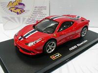 Bburago 36901 # Ferrari 458 Speciale Baujahr 2014 Ferrarirot/schwarz  1:43 NEU