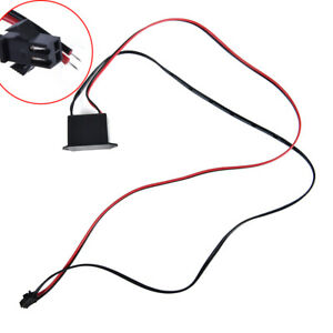 uxcell Red Black Cable EL Wire Neon Glow Strip Light Driver Unit Inverter DC 12V