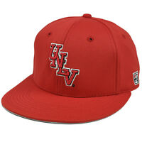 Hat Cap UNLV Nevada Las Vegas Runnin Rebels Red Flat Bill Polyester Fitted