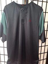Nike Jordan Shirt Black And Green Zipper Chest