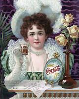 Vintage 1890s Drink Coca-Cola 5¢ Advertising Poster Art Print Coke * Hilda Clark