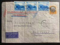 1941 Bamberg Germany Censored Airmail Cover To Sao Pablo Brazil Sara Bohm