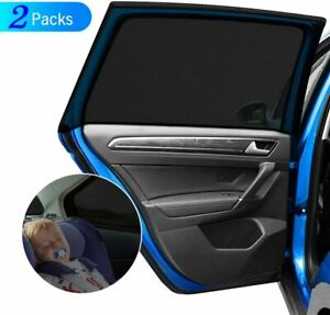 Car Side Window Sun Shades 2Pack Blocking Mosquito Net Mesh For Baby Universal