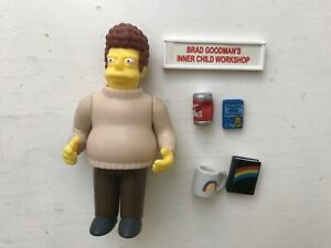 PLAYMATES INTERACTIVE THE SIMPSONS SERIES 2 BRAD GOODMAN ACTION FIGURE WOS