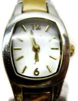 Fossil F2 ES-9525 30M WR St. Steel Women's Two Tone Watch Analog Quartz New Batt
