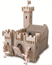 KNIGHT CASTLE Woodcraft Construction Kit - FSC Wooden 3D Model For KIDS/ADULTS