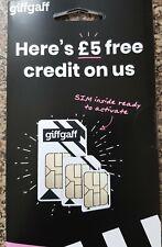GIFF GAFF NANO MICRO 3IN1 SIM CARD TRACKER SMART WATCH  2G PAYG PET 02 4G 3G