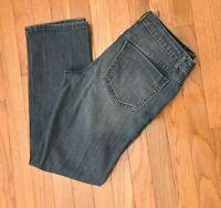 Simply Vera/Vera Wang Roll Cuff Capri Women's Jeans Straight Leg Size 8