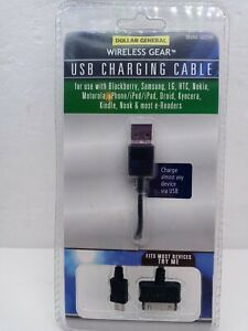 Wireless Gear USB Charging Cable - Model G0256 fits Kindle Nook e-readers +more