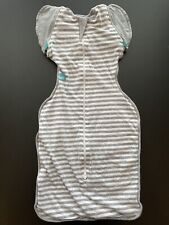 Love To Dream Swaddle UP, Grey Striped, Medium Transition Bag Sleeper 13-19lbs