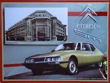 PLAQUE METAL vintage CITROËN SM 1970 - 40 X 30 CM