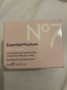 No7 Essential Moisture Night Cream Hypo-Allergenic 50ml Boxed