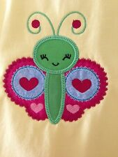 Butterfly Size 3 Girls Shirt Novelty Gift Embroidered