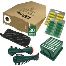 30 Staubsaugerbeutel Filter Bürsten Duft passend für Vorwerk Kobold VK 130 131