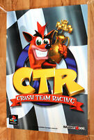 Crash Team Racing Old Vintage Promo Poster Playstation1 PS1 Extremely Rare 1999